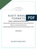 Audit Manual - SME - 2018-19 - Formats