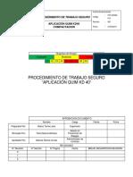 PTS-SINAM-010 Aplicacion de QUIM KD-40. Docx