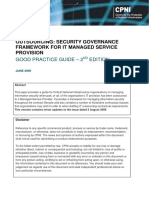 (Good Practice Guide) Outsourcing - Security Governance Framework for IT Managed Service Provision