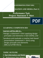 Media and Information Literacy (MIL)- Text Information and Media (Part 2)