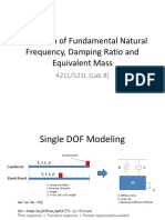 Lab 8 Vibration Estimation of Fundamental Natural Frequency Damping Ratio