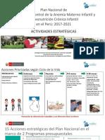 Plan Nacional de Reducción y Control de La Anemia y La Desnutrición Crónica Infantil - Actividades Estratégicas