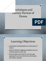Techniques and Literary Devices of Drama