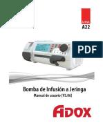 Manual de Usuario Bomba de Infusion Adox ACTIVA a22
