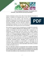 Presentación del Marco Conceptual Los Sentidos de la Educación.