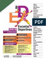 Oferta Del Programa de Escuelas Deportivas 2019 2020