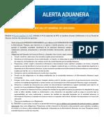 Modifican Ley General de Aduanas 16-09-2018