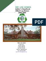 Free Log Homes Milled Log Building Manual 2 Copy