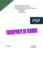 Trabajo sobre transporte de fluidos