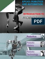 EPC431 2019 Present 1 - Introduction to Robotics