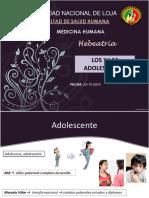 Los y Las Adolescentes 1