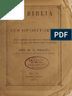 LA BIBLIA Y SUS OPOSITORES