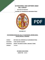 Informe 1 METODOS DE APRENDIZAJE AGROINDUSTRIAL