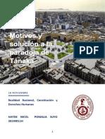 Estudio sobre la paradoja peruana de Tanaka