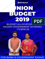 Budget Allocation Government Schemes FY2019-20