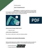 Info Doble Factor de Autenticación