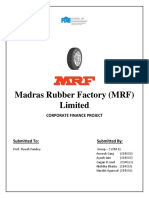 Corporate Finance - MRF Company