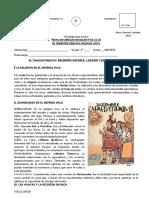 FICHA N°02 EL TAHUANTINSUYO - RELIGIÓN Y LEGADO CULTURAL