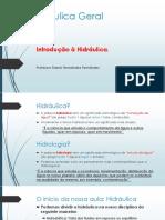Encontro # 1 Hidráulica e Hidrologia_aula_1