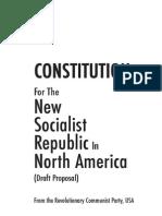 New Socialist Republic of North America Constitution - CPUSA