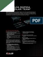 Polar Team2 Quick Guide Espanol