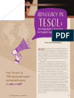 Advocacy in TESOL an Important Component