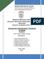 SEPARACION CONVENCIONAL Y DIVORCIO ULTERIOR c.docx