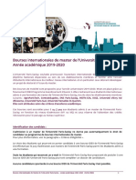 Procedure Bourses Internationales Upsaclay 2019-2020