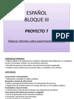 ESPAÑOL 3° PROYECTO 7