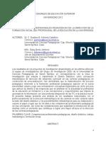 LAS COMPETENCIAS PROFESIONALES PEDAGÓGICAS EN LA DIRECCIÓN DE LA FORMACIÓN INICIAL DEL PROFESIONAL DE LA EDUCACIÓN EN LA UNIVERSIDAD