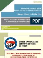 Exposé 10 CNSS Niger Communication Niamey Mai 2014