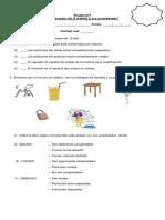 Prueba n°1  Los estados de la materia y sus propiedades