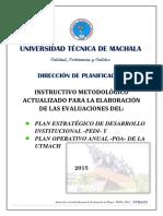 Instructivo Actualizado Para Evaluaciones PEDI y POA 2015