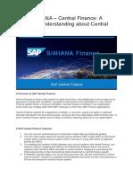 SAP S/4 HANA Central Finance Basic setup and configuration