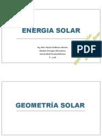 Geometria & Radiación Solar