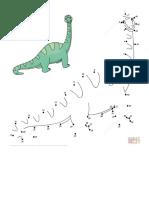 Dibujo de DIplodocus Para Colorear _ Unir Puntos Imprimir Gratis