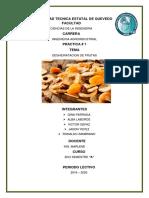 Informe Deshidratacion de Frutas