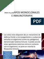 Anticuerpos Monoclonales e Inmunoterapia