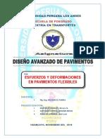 Informe - Esfuerzo y Deformacion en Pavimentos Flexibles