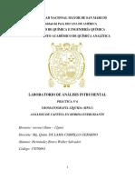 Informe de Cromatografía HPLC