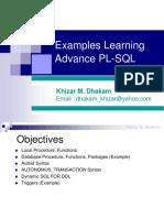 Khizar Plsql Examples Datamatics Advance LandT Ericsson