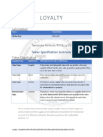 Tokenization TTF - Loyalty Spec