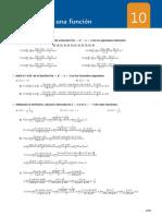 Solucionario T10 Libro Matematicas Ed. Santillana 1ºBACH