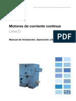 WEG Motores de Corriente Continua 10061219 Manual Espanol