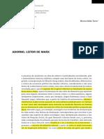 DELLA TORRE. Adorno, Leitor de Marx.