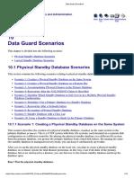 Data Guard Scenarios