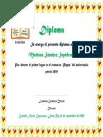 Diploma Fiestas Patrias