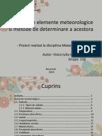 3. Principalele Elemente Meteorologice Si Metode de Obsevatie a Acestora