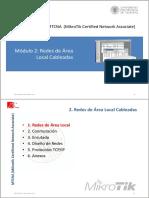 MTCNA - CFP UPV - Módulo 2 - Redes de Área Local Cableadas
