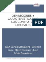 DEFINICIONES DE CONTRATOS LABORALES
